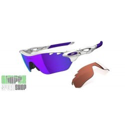 OAKLEY Radarlock Edge Polished White Violet Iridium Vented