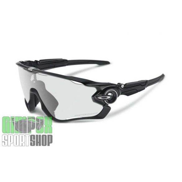 OAKLEY Jawbreaker Polished Black Clear Black Iridium Photochromic Activated