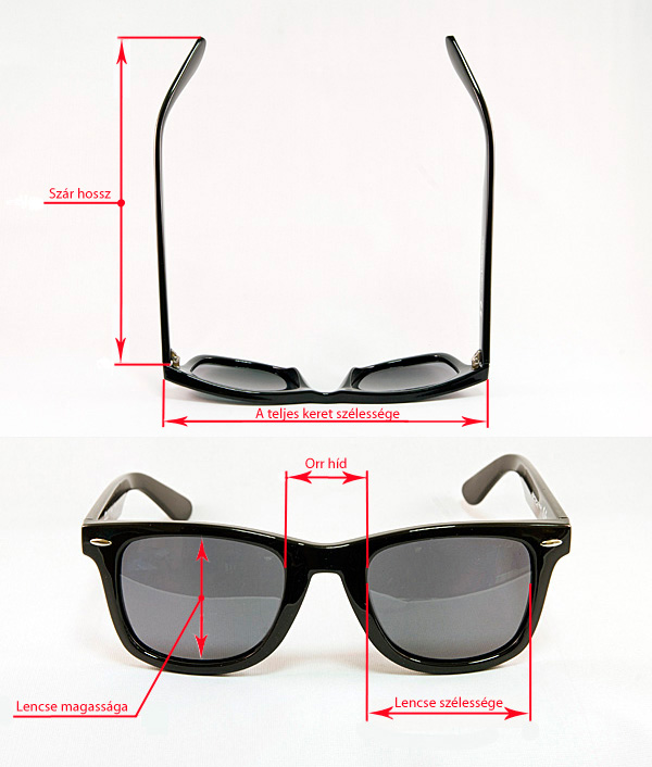 Napszemüveg méretezése